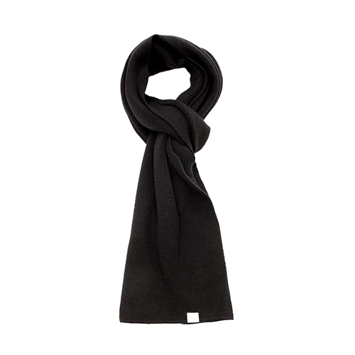 M92 Merino Knitted Scarf - Deep Black