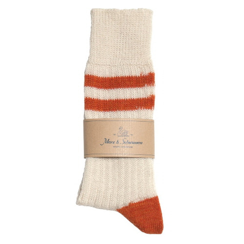 S75 Socks With Stripes - Nature/Rust