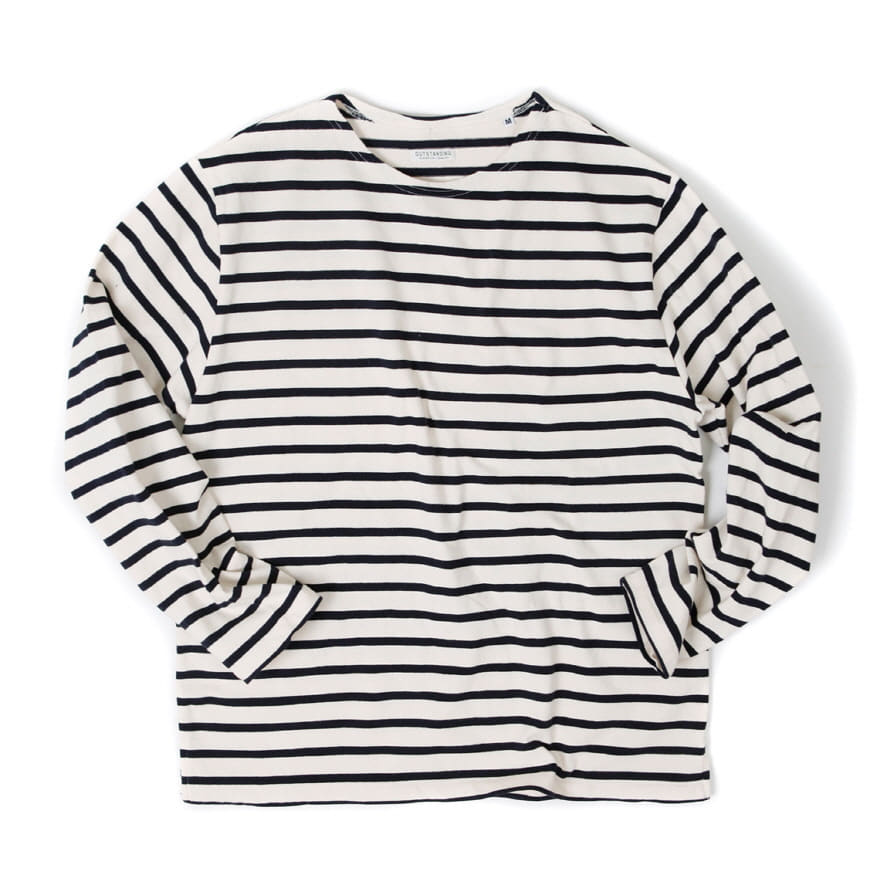Boat Neck Long Sleeve - Ivory/Black