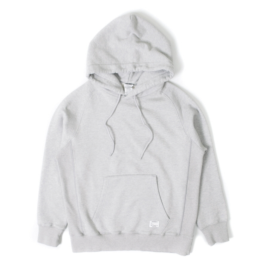 Hooded Sweat Shirt - Melange Gray