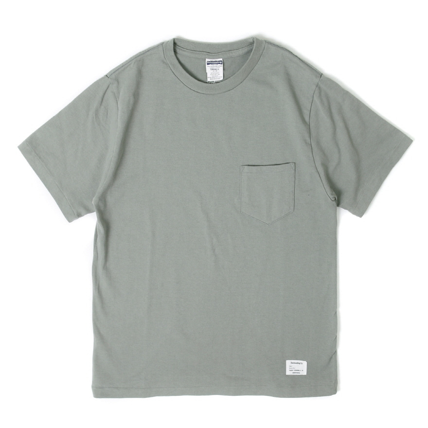 Standard Pocket Crewneck - Khaki Gray