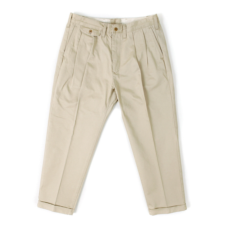 Tapered Chino Trousers - Beige