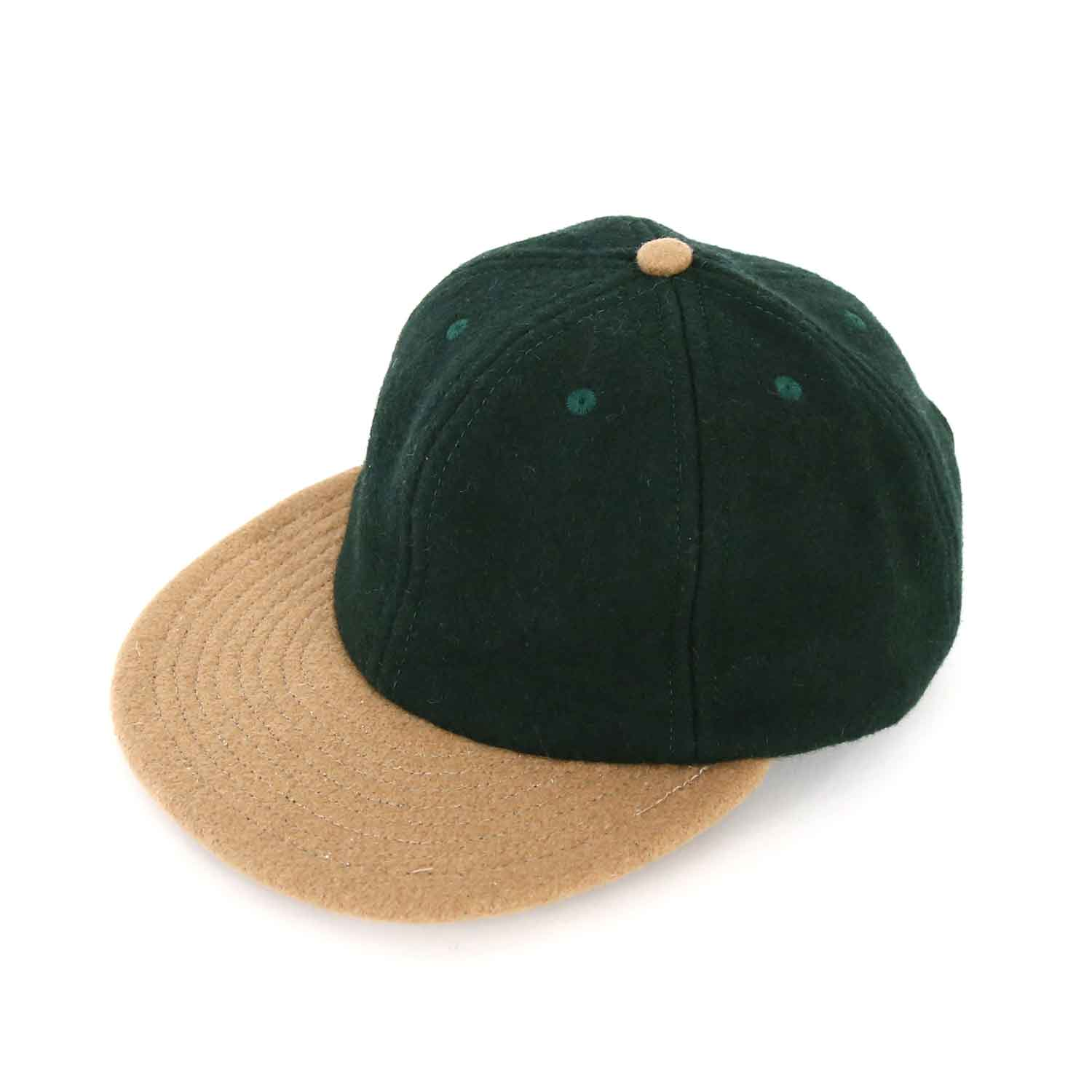 US 2Tone B.B Cap(Regular Brim) - Green / Camel