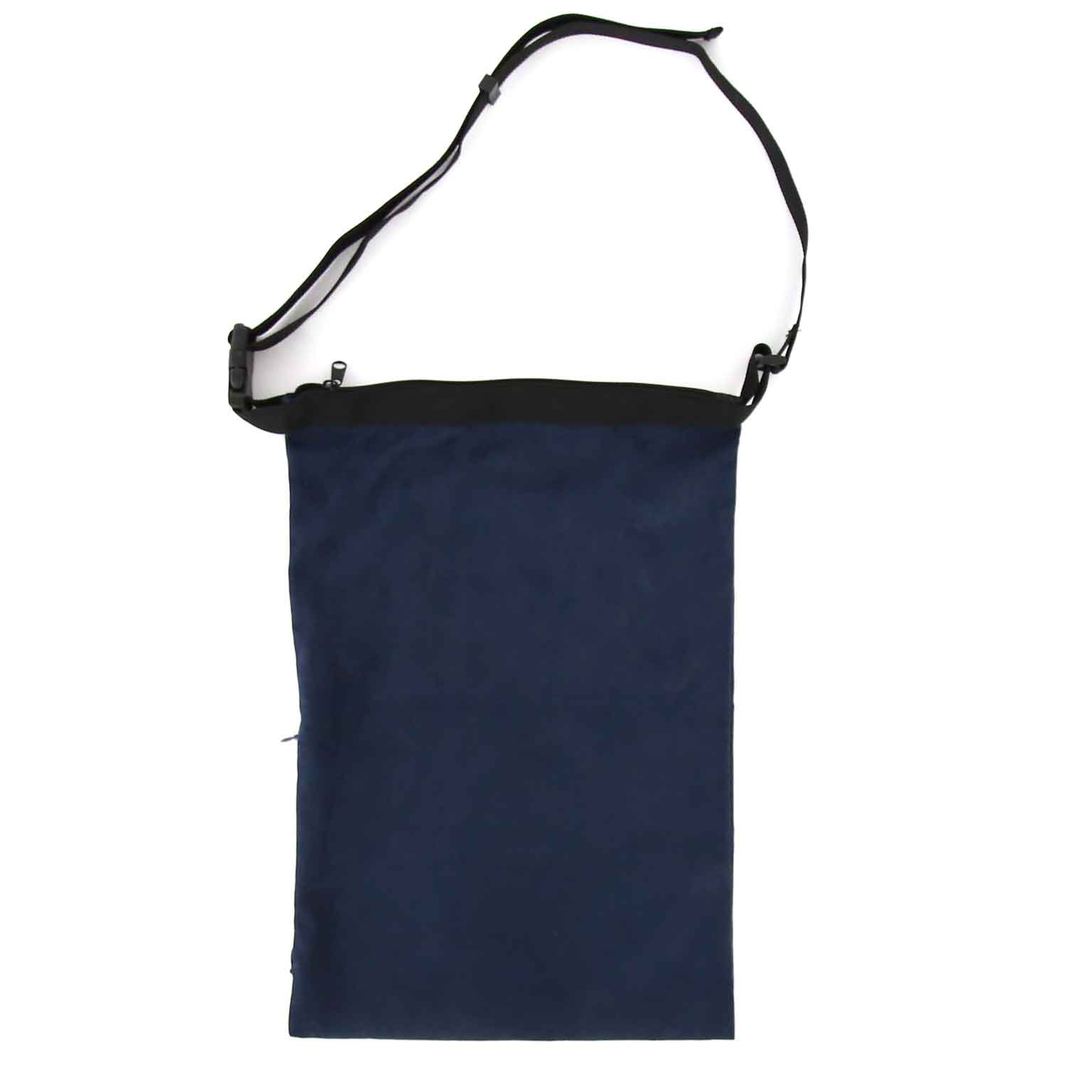 Suede Wrap Bag Small - Navy