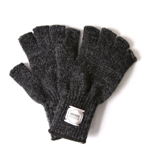 Fingerless Wool Glove - Black
