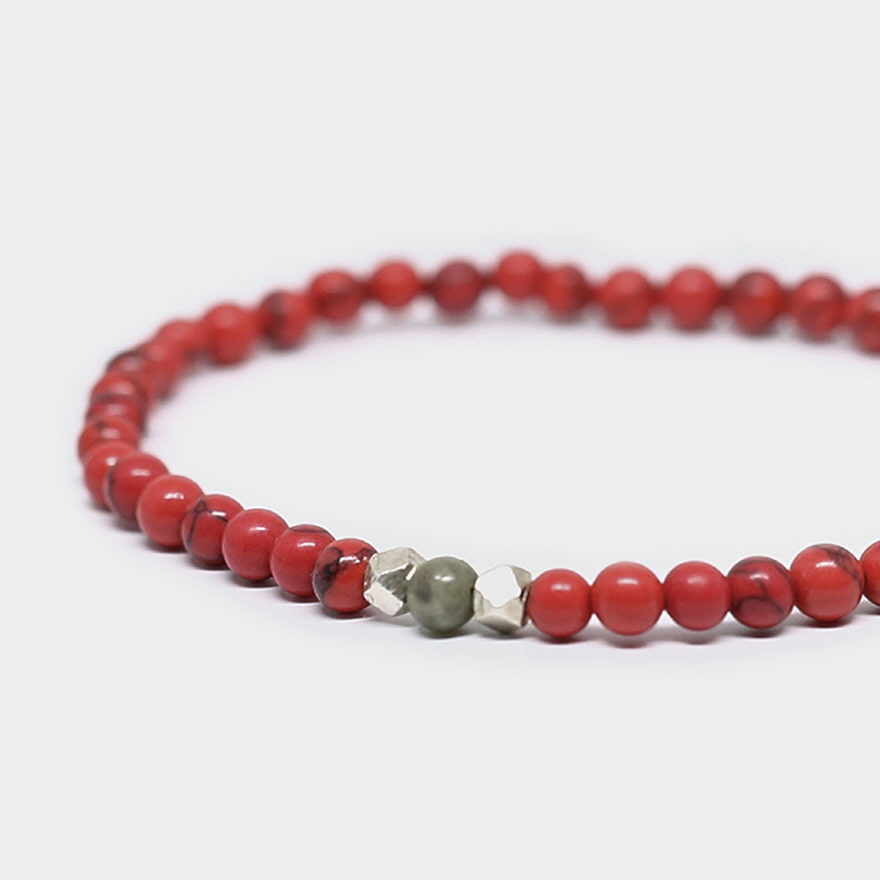Nomad Bracelet - Red Howlite